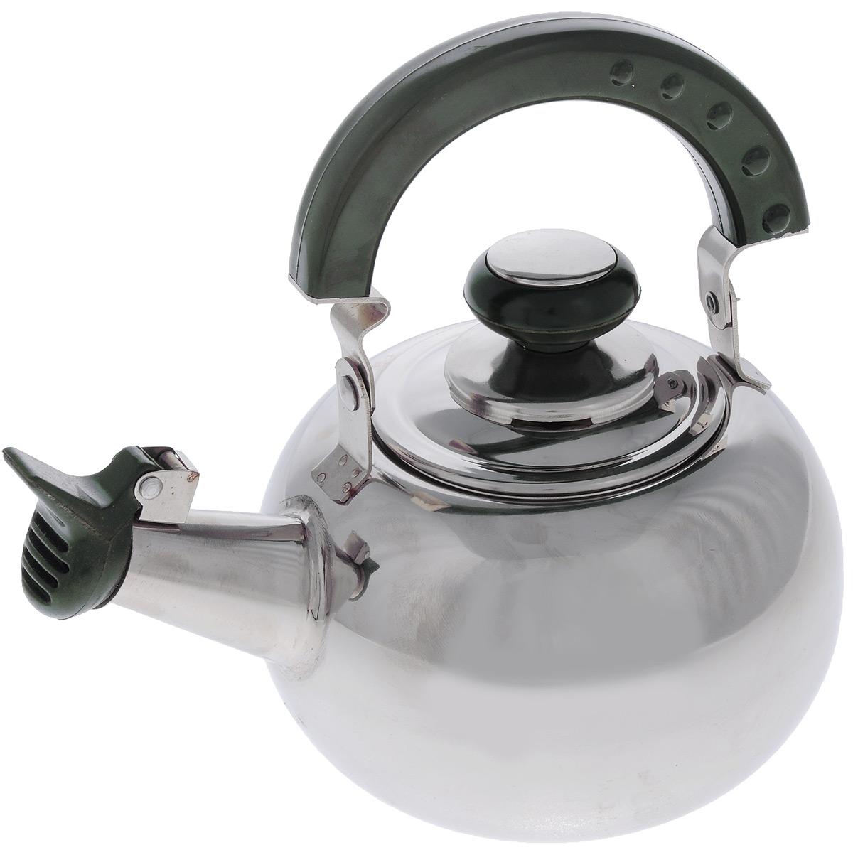 Чайник Mayer & Boch со свистком, с ситечком, 1 л20139Чайник Mayer & Boch изготовлен из высококачественной нержавеющей стали.Нержавеющая сталь обладает высокой устойчивостью к коррозии, не вступает в реакцию с холодными и горячими продуктами и полностью сохраняет их вкусовые качества. Особая конструкция дна способствует высокой теплопроводности и равномерному распределению тепла. Внешнее зеркальное покрытие придает приятный внешний вид. Бакелитовая ручка делает использование чайника очень удобным и безопасным. Чайник снабжен свистком и ситечком для заваривания. Чайник Mayer & Boch пригоден для использования на всех видах плит, кроме индукционных. Можно мыть в посудомоечной машине.Диаметр по верхнему краю: 8 см.Диаметр основания: 8,5 см.Высота с учетом крышки: 12 см.Диаметр ситечка: 7 см.Высота ситечка: 6,5 см.
