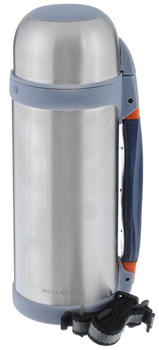 Термос Mayer & Boch, 1 л. 2315123151Термос Mayer & Boch изготовлен из высококачественной нержавеющей стали. Термос предназначен для хранения горячих и холодных напитков и укомплектован откручивающейся пробкой с кнопкой для более удобного разлива жидкостей. Такая пробка надежна, проста в использовании и позволяет дольше сохранять тепло благодаря дополнительной теплоизоляции. Изделие также оснащено крышкой-чашкой, дополнительным ремешком и раздвижной резиновой ручкой для удобной переноски термоса. Термос отлично подходит для использования дома, в школе, на природе, в походах. Сохраняет температуру напитков на протяжении 12 часов. Термос частично состоит из пластиковых частей, поэтому не оставляйте его рядом с открытым огнем.Не наливайте в термос газированные напитки.Никогда не нагревайте термос в СВЧ. Не подходит для использования в посудомоечной машине.