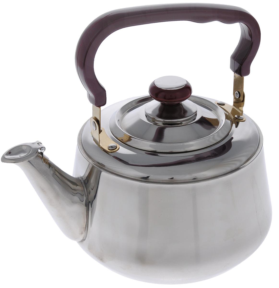 Чайник Mayer & Boch со свистком, 3 л чайник mayer & boch цвет стальной бирюзовый золотой 4 л 1046a