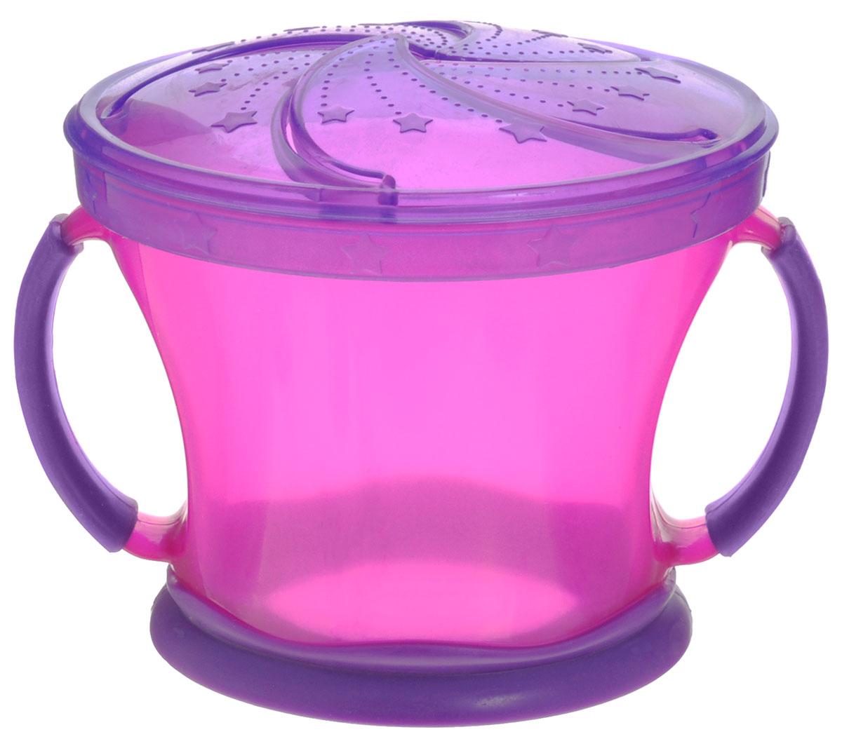 Munchkin Контейнер  Поймай печенье , цвет: малиновый, фиолетовый -  Все для детского кормления