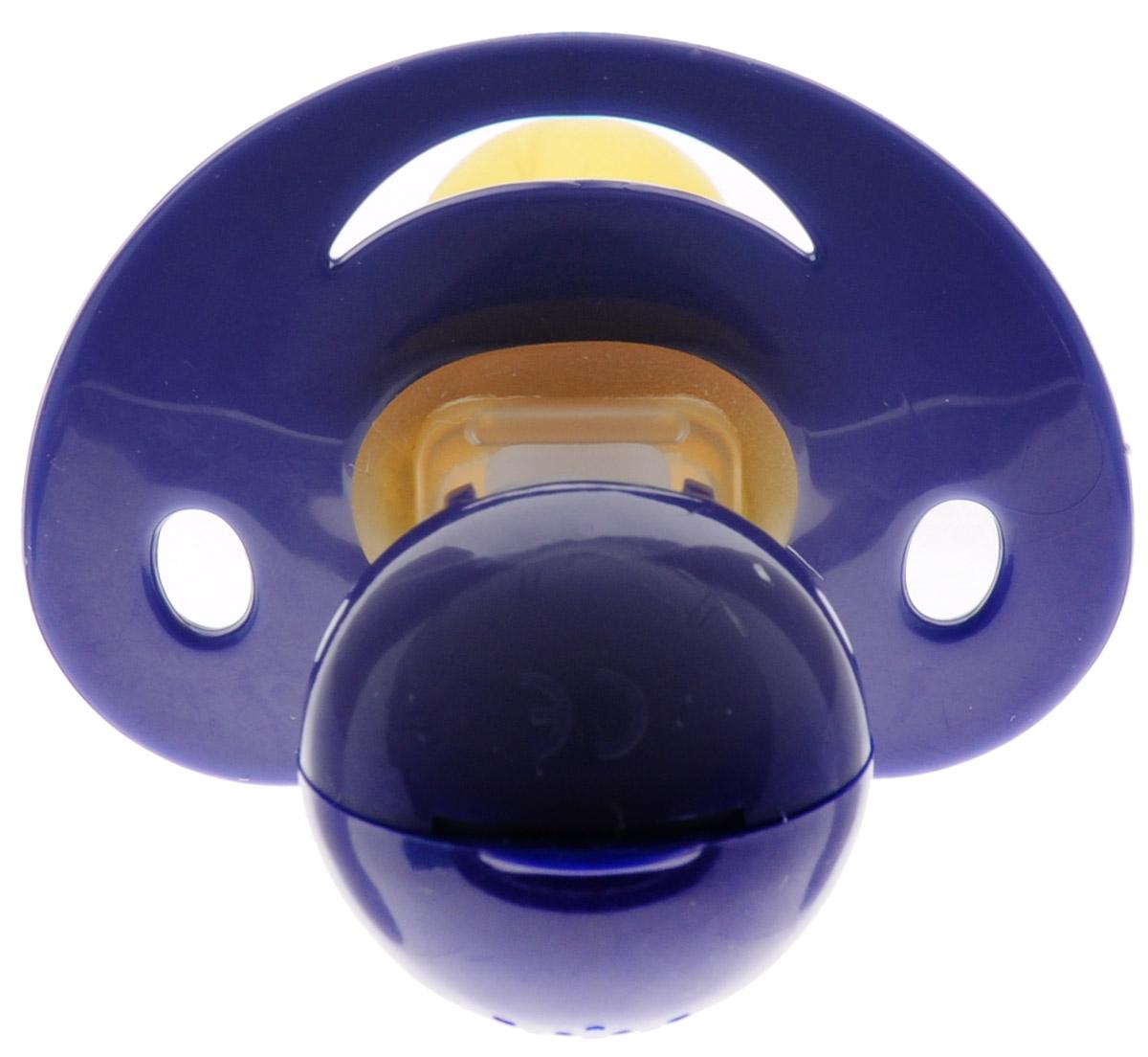Baby-Frank Пустышка латексная для ингаляции от 0 до 6 месяцев цвет темно-синий