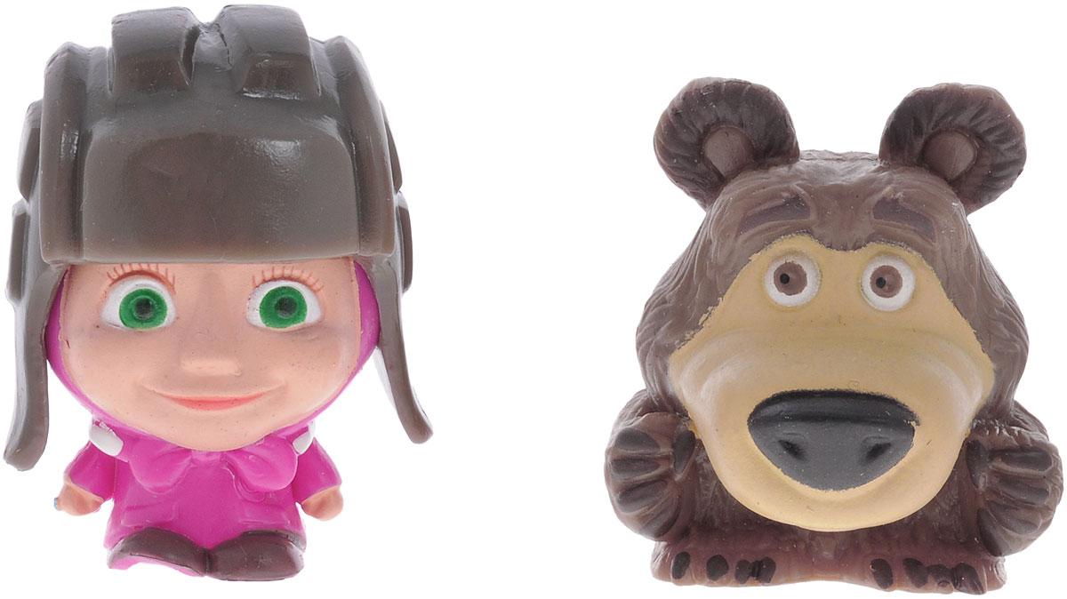 Маша и Медведь Фигурка-мялка 2 шт, в шапке танкиста фигурки игрушки маша и медведь пластизоль машины игрушки