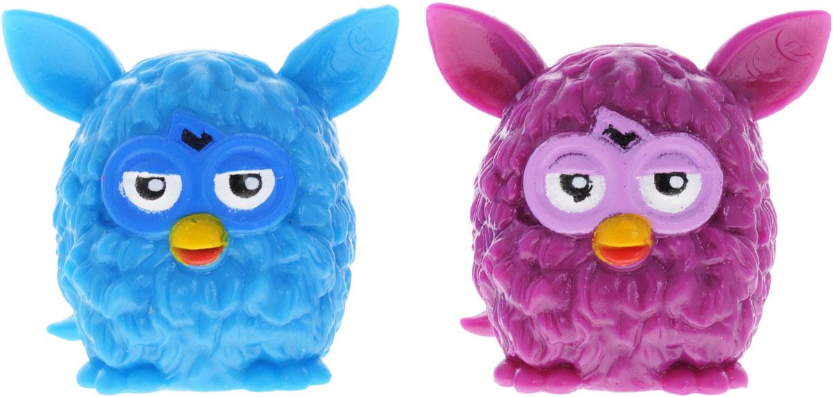 Hasbro Фигурка-мялка Furby цвет голубой фиолетовый 2 шт hasbro hasbro интерактивная игрушка furby ферби коннект темные цвета голубой