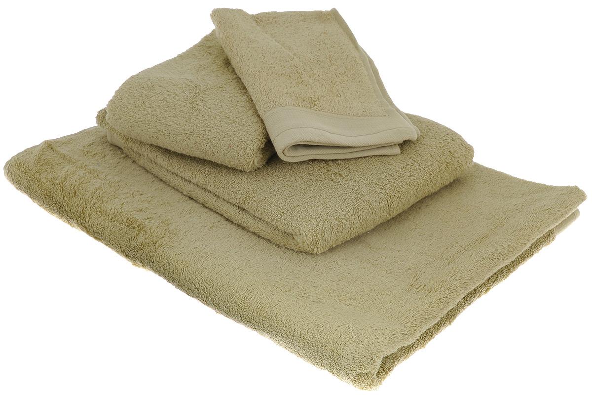Набор махровых полотенец Guten Morgen, цвет: фисташковый, 4 предмета полотенца dome набор из 4 полотенец harmonika цвет молочный коричневый
