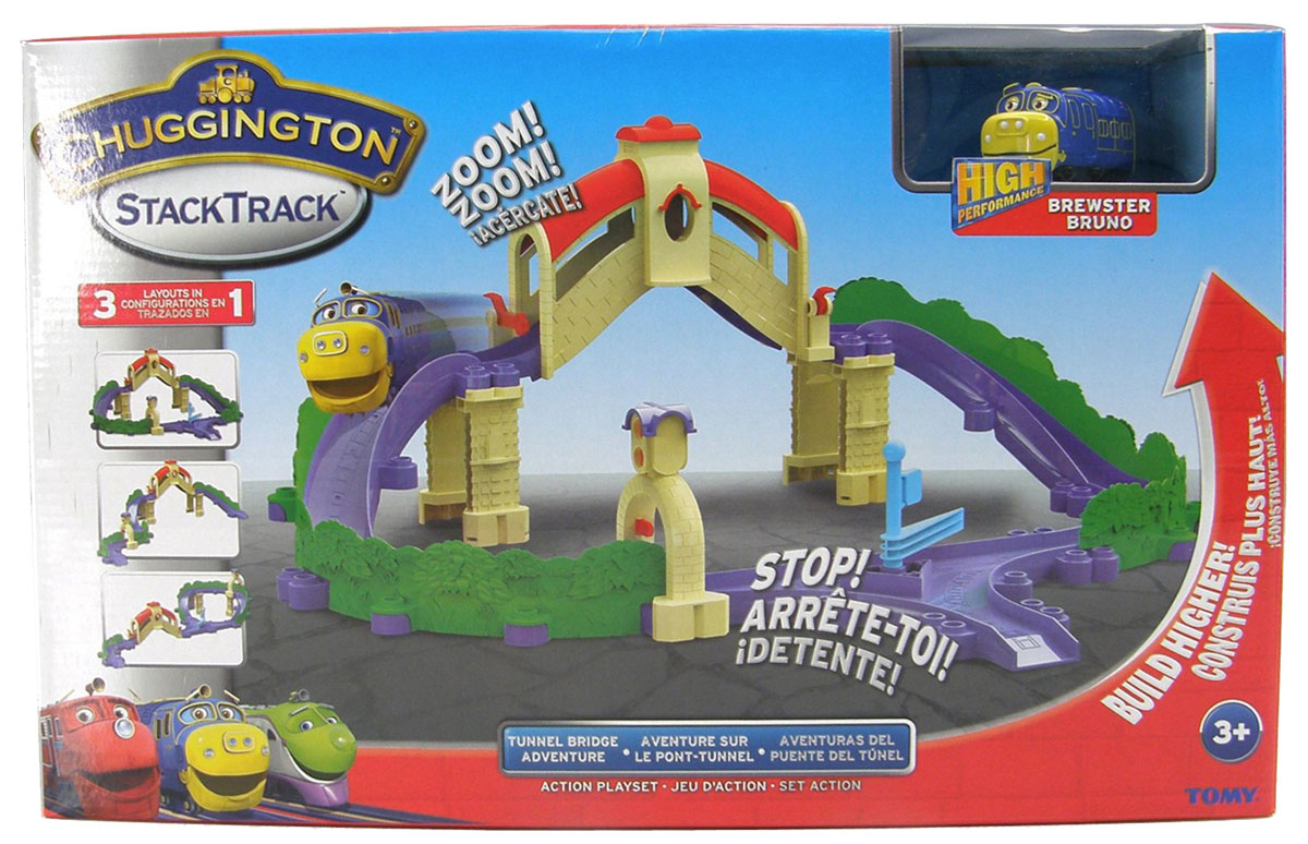Chuggington Игровой набор Мост-туннель с Брюстером die cast игровой набор большая стройка с брюстером chuggington