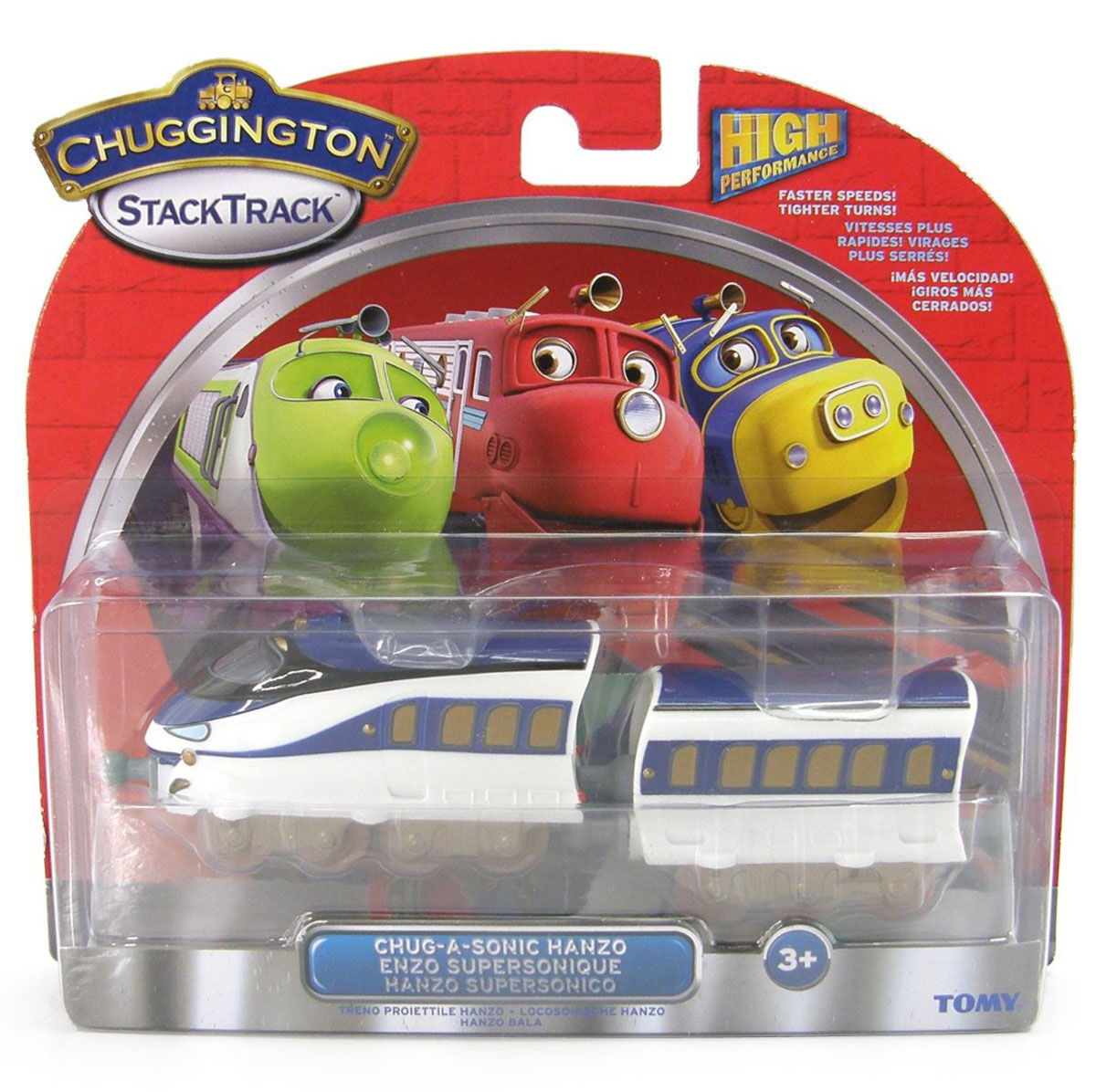 Chuggington Паровозик Ханзо с вагончиком