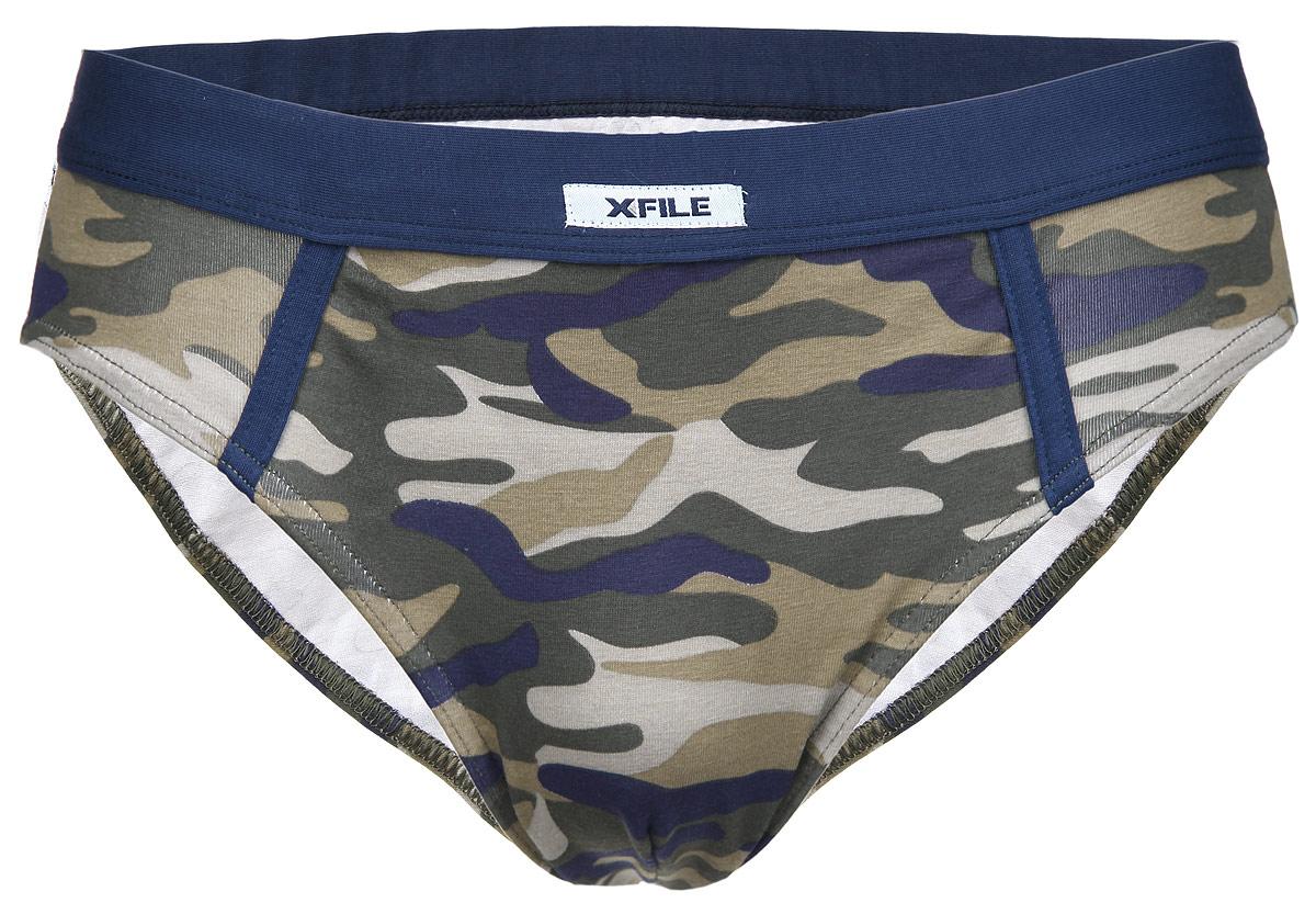 Трусы-слипы мужские X-File Antonio, цвет: камуфляж (militare). Размер XXL (54) трусы x file
