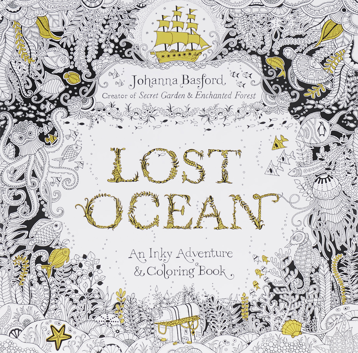 Lost Ocean: An Inky Adventure and Coloring Book lost ink lo019awgvm59 lost ink
