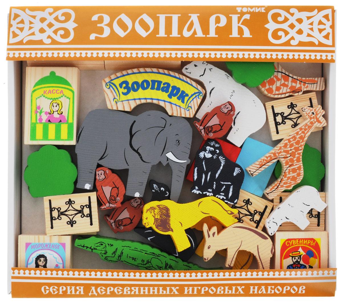 Томик Конструктор Зоопарк томик деревянный конструктор транспорт