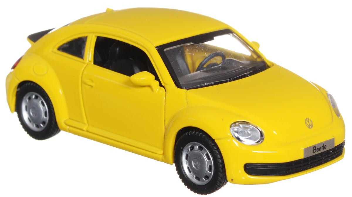 ТехноПарк Модель автомобиля Volkswagen the Beetle цвет желтый uni fortune toys модель автобуса volkswagen t1 transporter цвет желтый синий