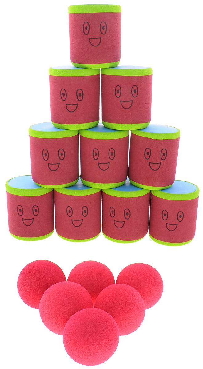 Safsof Игровой набор Городки цвет красный зеленый