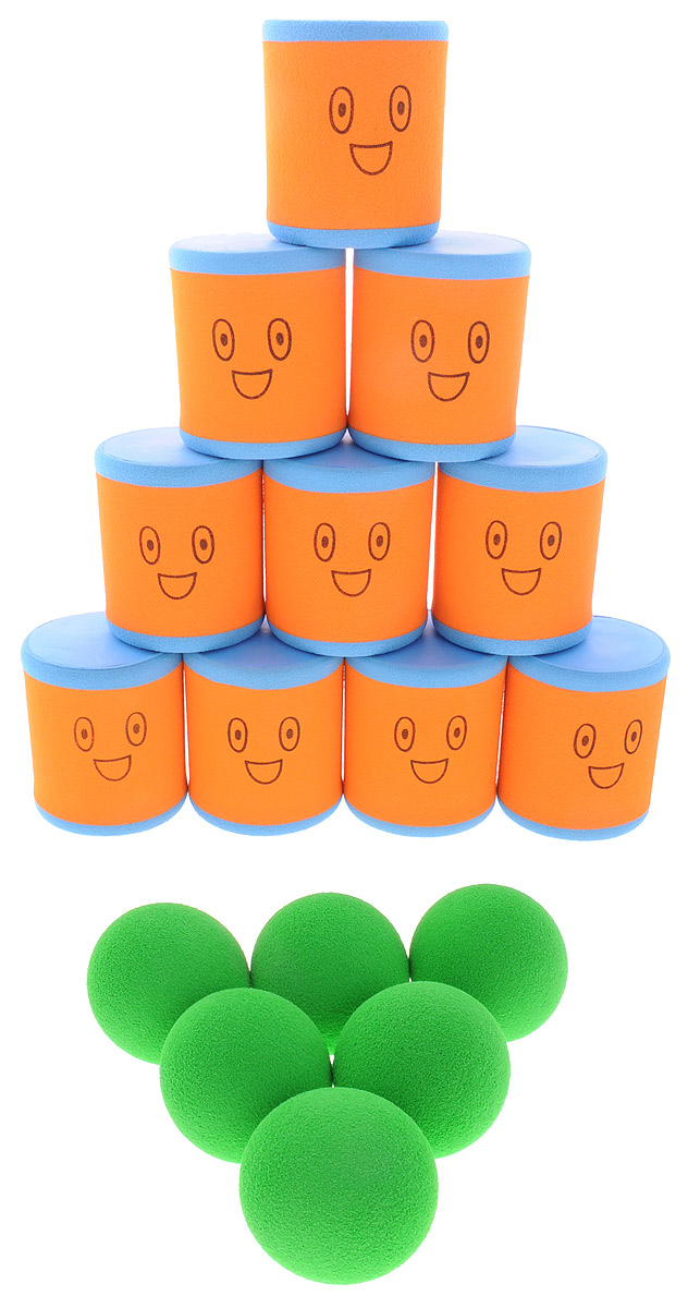 Safsof Игровой набор Городки цвет оранжевый голубой зеленый городки