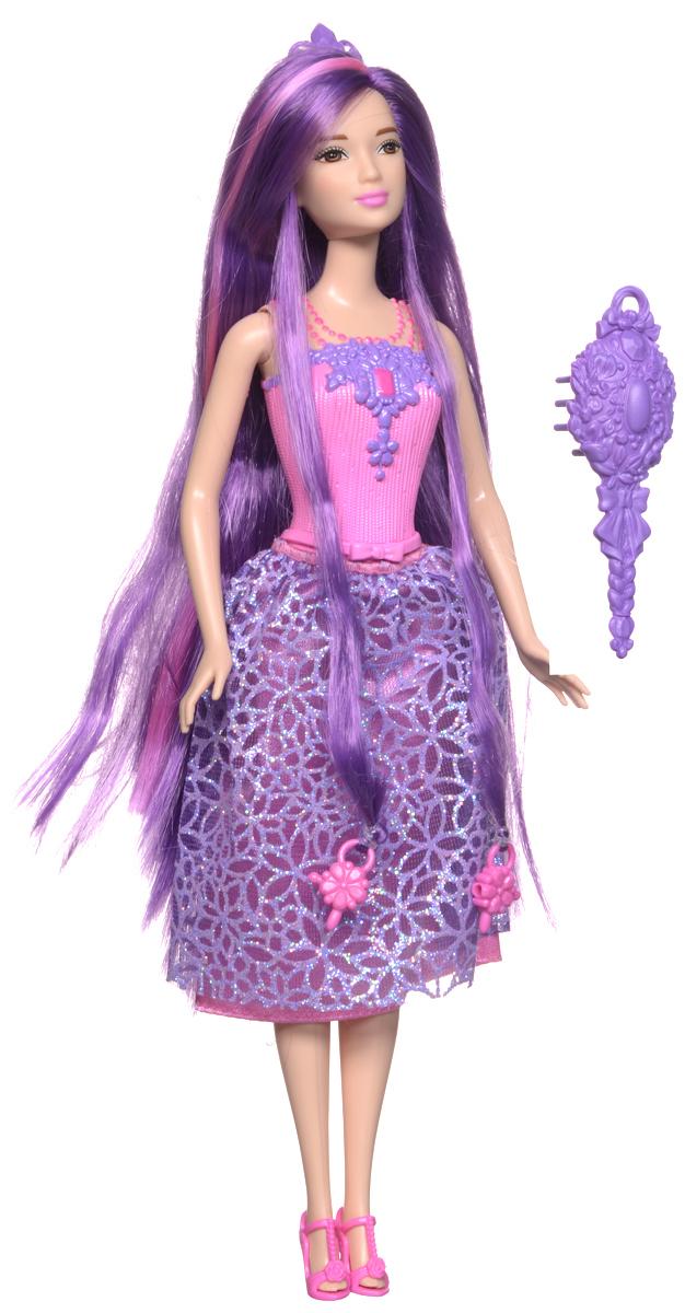 Barbie Кукла Принцесса с длинными волосами цвет одежды розовый фиолетовый куклы barbie куклы принцессы с длинными волосами
