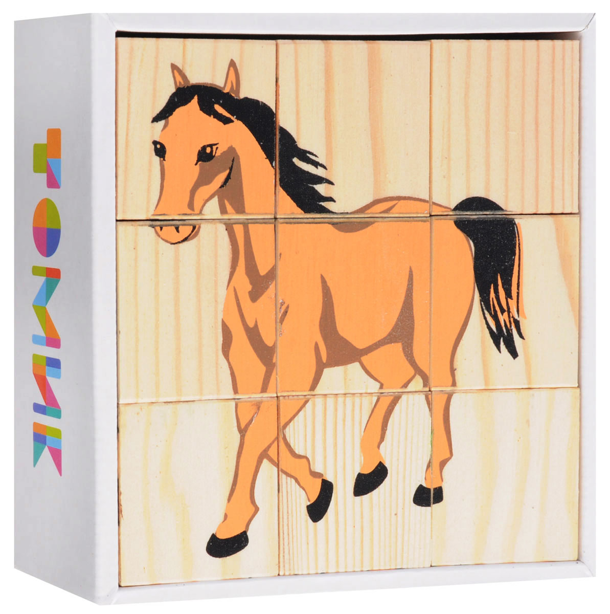 Томик Кубики Домашние животные развивающие деревянные игрушки кубики животные
