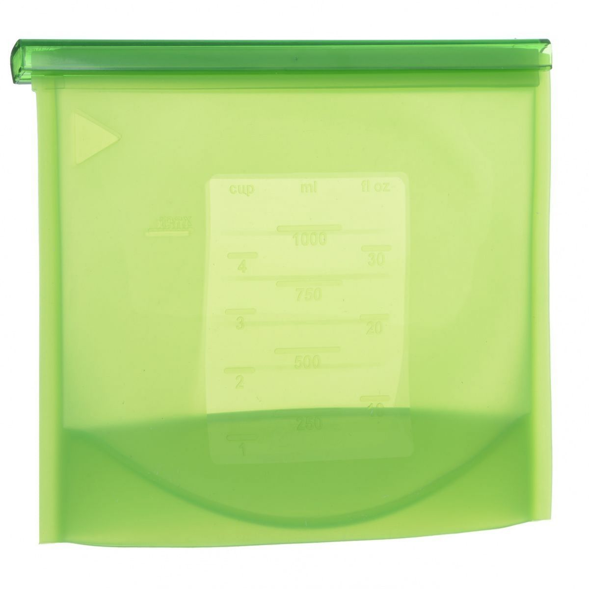 Пакет-контейнер Bradex, силиконовый, 21 х 10 х 18 смTK 0177Многофункциональный силиконовый пакет-контейнер Bradex - это ультрасовременный подход к хранению и приготовлению пищи. Пакет-контейнер выдерживает температуры заморозки до -60°С и разогрева до +220°С. В нем можно замораживать, разогревать и даже готовить вкусные и полезные блюда в микроволновой печи и на пару. Специальная застежка делает пакет абсолютно герметичным, теперь вы сможете забыть о неприятном запахе в холодильнике, а все содержимое будет храниться гораздо дольше. Преимущества: - подходит для хранения фруктов, овощей, ягод, мяса, рыбы и даже жидкостей; - надежная застежка делает пакет-контейнер абсолютно герметичным; - блюда, приготовленные в пакете-контейнере, сохраняют все свои питательные и вкусовые свойства; - пригоден для транспортировки готовых блюд или полуфабрикатов; - позволяет рационально задействовать пространство холодильной и морозильной камер; - на пакете можно сделать надпись маркером, которая легко стирается влажной губкой; - соответствует требованиям FDA; - выполнен из прочного и долговечного материала, легко моется; - снабжен мерной шкалой в чашах, миллилитрах и жидких унциях.
