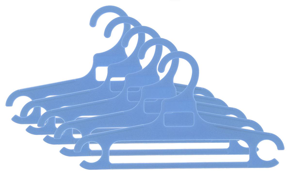 Полимербыт Вешалка детская размер 36-38 цвет голубой 5 шт вешалка с закругленными плечиками quelle valiant 1011919