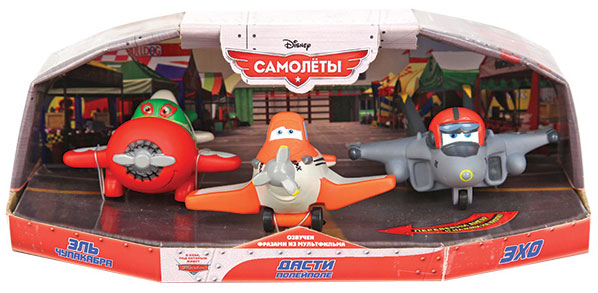 Disney Игрушка Самолеты Дасти, Чупакабра и Эхо пластизоль gt7648 эль чупакабра озвученный на колесиках в блистере tm disney 1165606