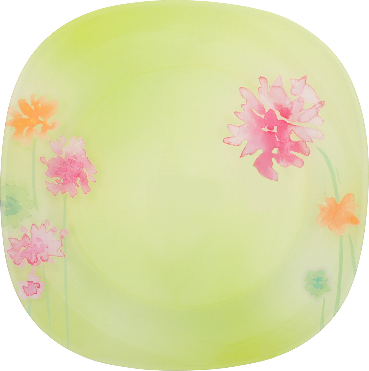 Тарелка обеденная Luminarc Angel Green, 25 см х 25 см тарелка под пасту 25 5 см royal porcelain тарелка под пасту 25 5 см