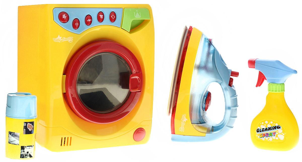 Playgo Игровой набор Стиральная машина с утюгом детская стиральная машинка с водой купить