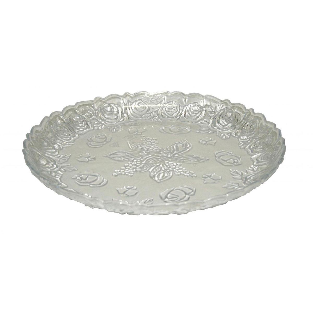 Поднос Альтернатива Изобилие, цвет: прозрачный, диаметр 35 смМ554Поднос Альтернатива Изобилие, выполненный из пластика, станет незаменимым предметом для сервировки стола. Внешние стенки подноса оформлены объемными цветочными узорами. Края подноса фигурные.Красочный дизайн подноса придаст оригинальность и яркость любой кухне или столовой. Поднос уместит на себе достаточно много продуктов и предохранит поверхность стола от грязи и перегрева.Диаметр подноса: 35 см.Высота подноса: 4 см.