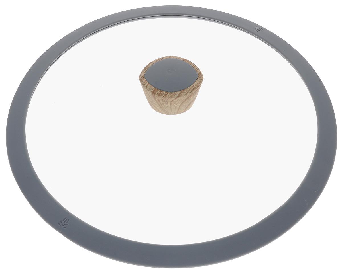 Крышка Nadoba Mineralica. Диаметр 28 см751211Крышка Nadoba Mineralica изготовлена из жаропрочного закаленного стекла. Силиконовый обод обеспечивает плотное прилегание крышки и предохраняет бортики посуды от повреждений. Удобная ненагревающаяся ручка с покрытием Soft-Touch предотвращает выскальзывание. Можно мыть в посудомоечной машине.