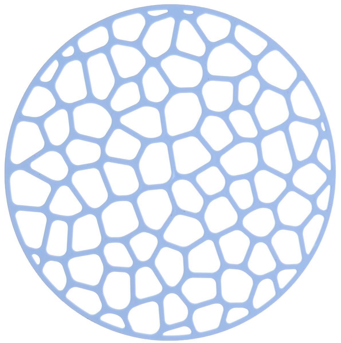 Коврик для раковины Idea, цвет: голубой, диаметр 30 смМ 1152Коврик для раковины Idea изготовлен из полипропилена (пластик). Изделие одновременно выполняет несколько функций: украшает, предотвращает появление на раковине царапин и сколов, защищает посуду от повреждений при падении в раковину, удерживает мусор, попадание которого в слив приводит к засорам. Изделие также обладает противоскользящим эффектом и может использоваться в качестве подставки для сушки чистой посуды. Легко очищается от грязи и жира.