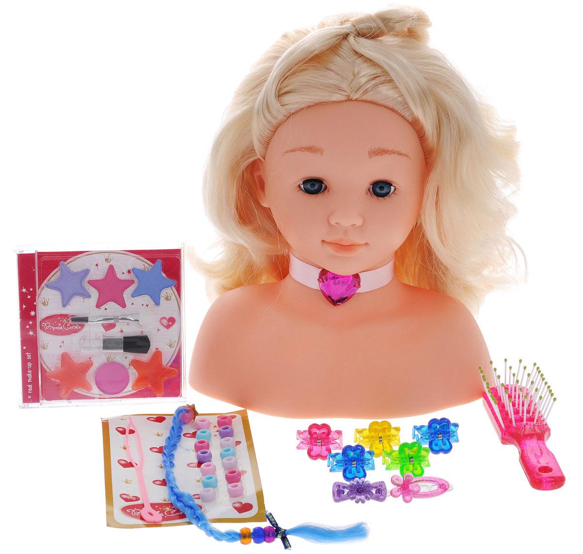 Klein Игровой набор Princess Coralie Модель для макияжа и причесок 27 предметов игровая кофеварка klein coralie