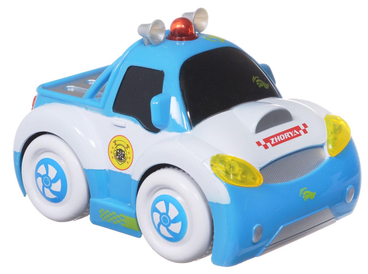 Zhorya Машинка c сенсорным управлением Автомалыш цвет белый голубой машинки hti паровозик roadsterz синий с вагоном звуковыми и световыми эффектами
