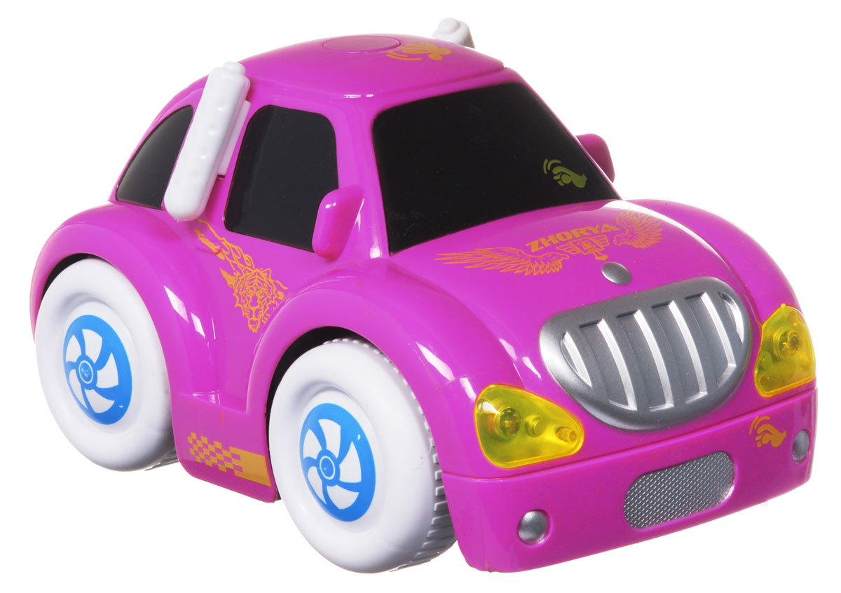 Zhorya Машинка c сенсорным управлением Автомалыш цвет малиновый машинки hti паровозик roadsterz синий с вагоном звуковыми и световыми эффектами
