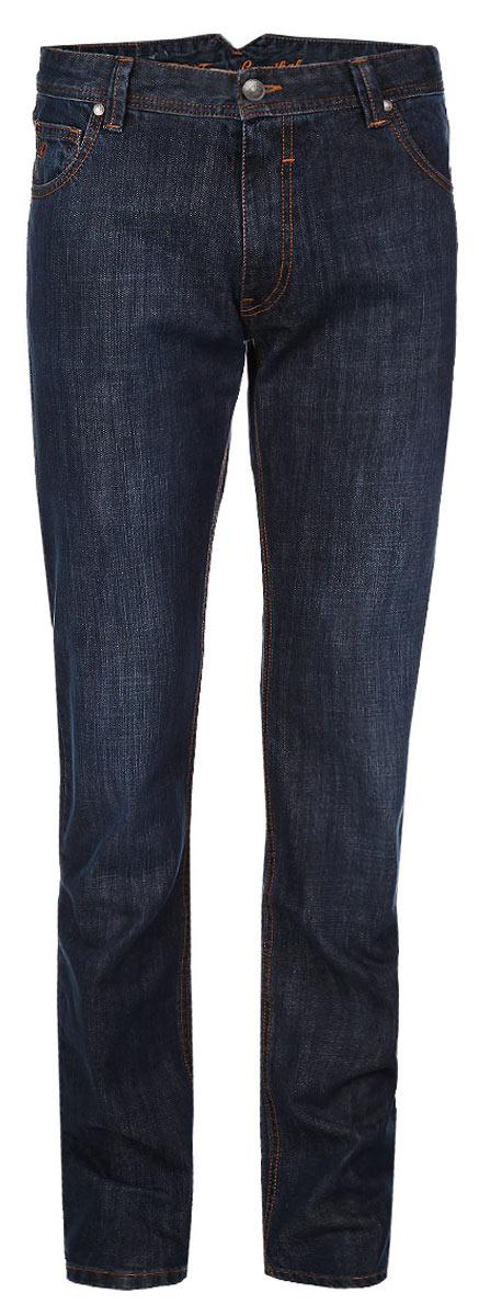Джинсы мужские F5, цвет: темно-синий. 0965 DP AS 0036 w.garment. Размер 36-34 (50/52-34)09522-1/CRСтильные мужские джинсы F5 - джинсы высочайшего качества на каждый день, которые прекрасно сидят. Модель прямого кроя и средней посадки изготовлена из высококачественного плотного хлопка. Джинсы не сковывают движения и дарят комфорт. Изделие оформлено небольшим тертым эффектом и контрастной отстрочкой. Застегиваются джинсы на пуговицу в поясе и ширинку на молнии, имеются шлевки для ремня. Спереди модель оформлена двумя втачными карманами и одним небольшим секретным кармашком, а сзади - тремя накладными карманами. Эти модные и в тоже время комфортные джинсы послужат отличным дополнением к вашему гардеробу. В них вы всегда будете чувствовать себя уютно и комфортно.