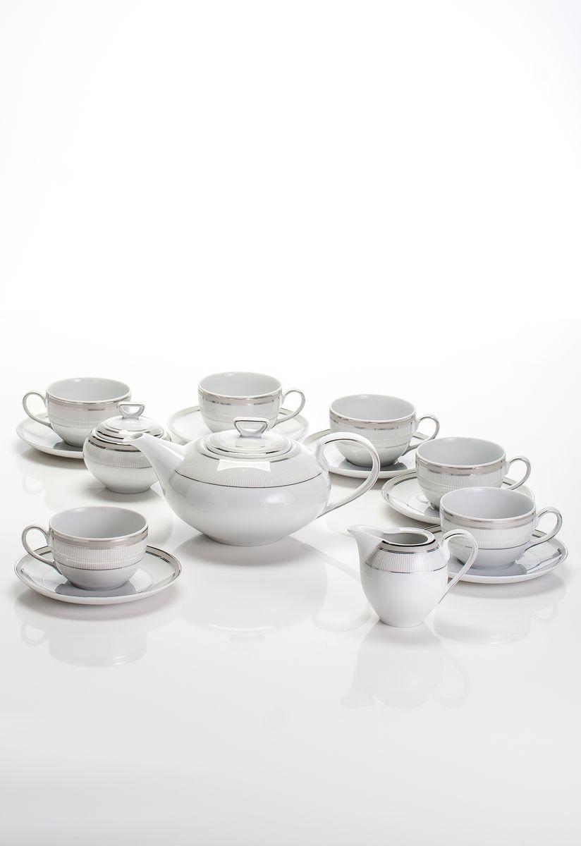 Чайный сервиз 6 перс 15 пред. ПлатинаYV E685 t/15