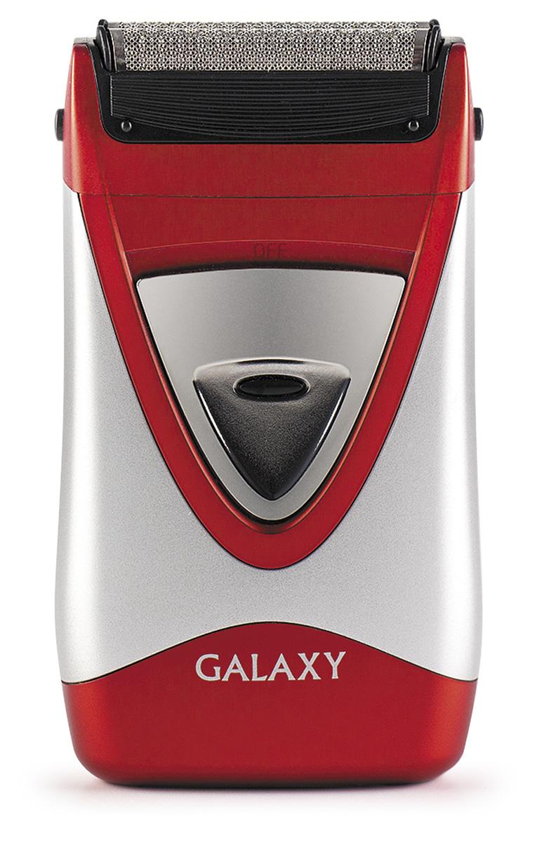 Galaxy GL4203, Silver Red электробритва4630003365347Электробритва Galaxy GL4203 обеспечит точное гладкое бритье и позволит сделать этот процесс более комфортным, качественным и совершенно безопасным. Модель отличается низким уровнем вибраций, что позволит более удобно ухаживать за контурами бороды и усов. Электробритва имеет две независимые плавающие головки и ультратонкие сетки из нержавеющей стали. Она оснащена защитой от непроизвольного включения. Блок ножей и сеток можно промыть под проточной водой. С такой бритвой каждый день можно создавать ухоженный образ без особых усилий. Ультратонкие сетки из нержавеющей сталиЗащита от непроизвольного включенияПитание: 2 батарейки типа АА (в комплект не входят)