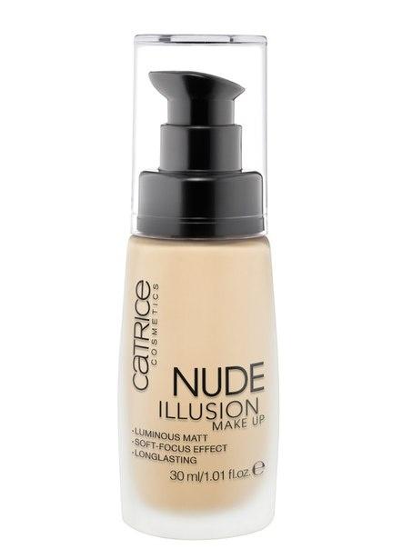 CATRICE Основа тональная Nude Illusion Make Up 015 Nude Vanilla, 30мл54476Увлажняющая тональная основа со светоотражающими частичками буквально тает на Вашей коже! Эффект мягкого фокуса сделает тон кожи естественным и безупречным!Содержит солнцезащитные фильтры, прекрасно матирует и остается с Вами в течение всего дня