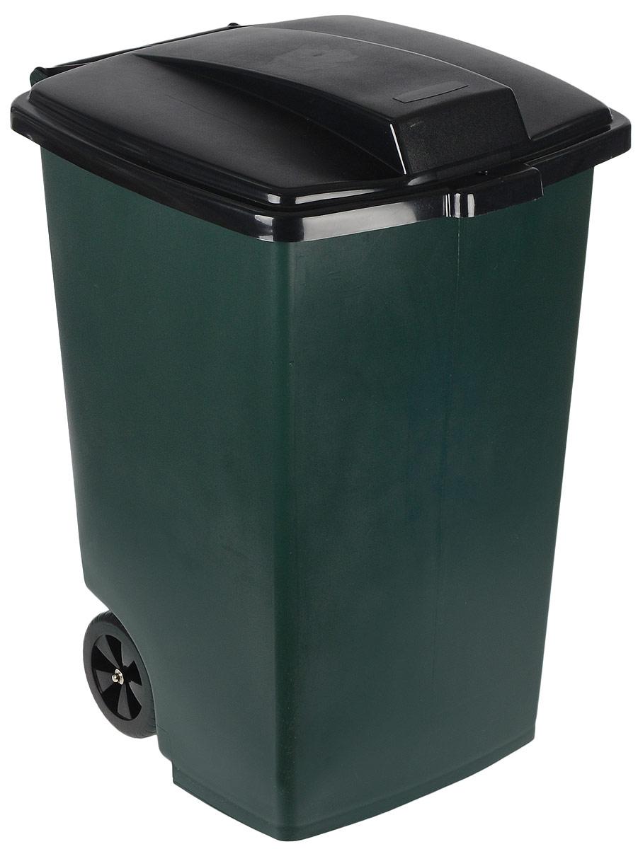 Контейнер для мусора Curver, на колесах, 100 л5183Контейнер для мусора Curver, изготовленный из высококачественного пластика, оснащен колесиками, эргономичной ручкой и плотно закрывающейся крышкой. Крышка бесшумно, плотно прилегает, предотвращая распространение запаха. Бороться с мусором станет легко.Благодаря лаконичному дизайну такой контейнер идеально впишется в любой интерьер.Изделие пригодно для использования на садово-огородном участке, в доме или офисе.
