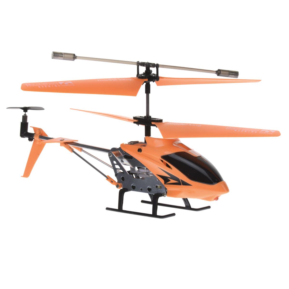 Junfa Toys Вертолет на радиоуправлении Model King цвет оранжевый - Радиоуправляемые игрушки