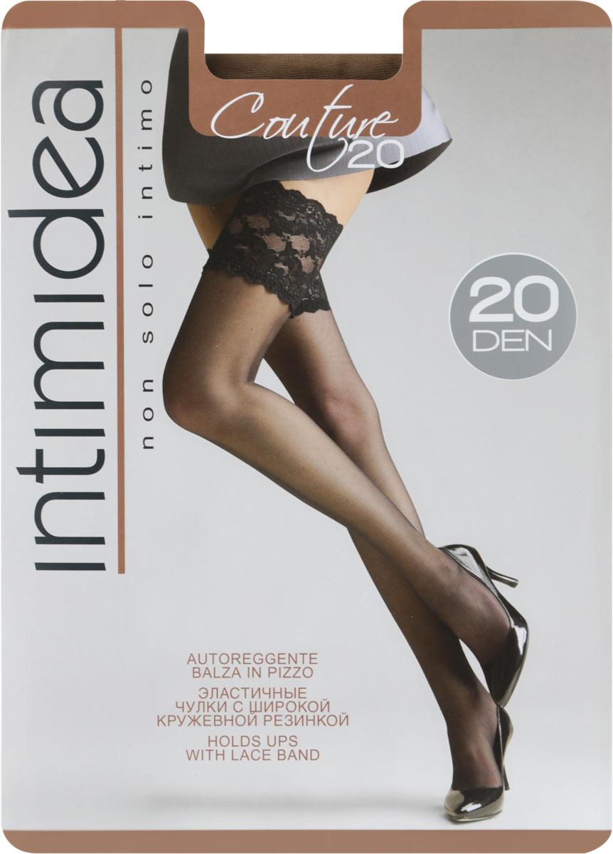 Чулки Intimidea Couture 20, цвет: Cognac (коньяк). Размер 3/4 чулки seven til midnight большого размера с кружевной резинкой xl телесный