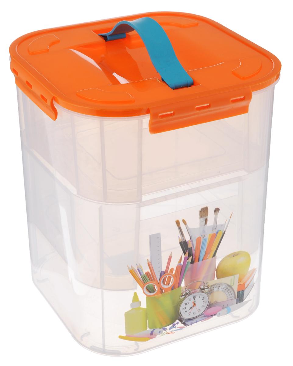 Контейнер для хранения Idea Деко. Канцтовары, с 2 вкладышами, 10 л контейнер для хранения idea деко бомбы 10 л