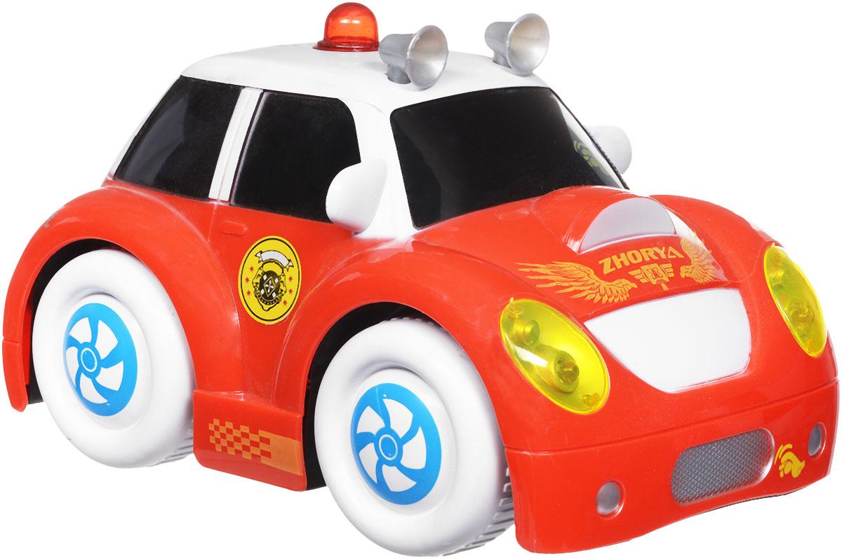 Zhorya Машинка c сенсорным управлением Автомалыш цвет красный белый машинки hti паровозик roadsterz синий с вагоном звуковыми и световыми эффектами