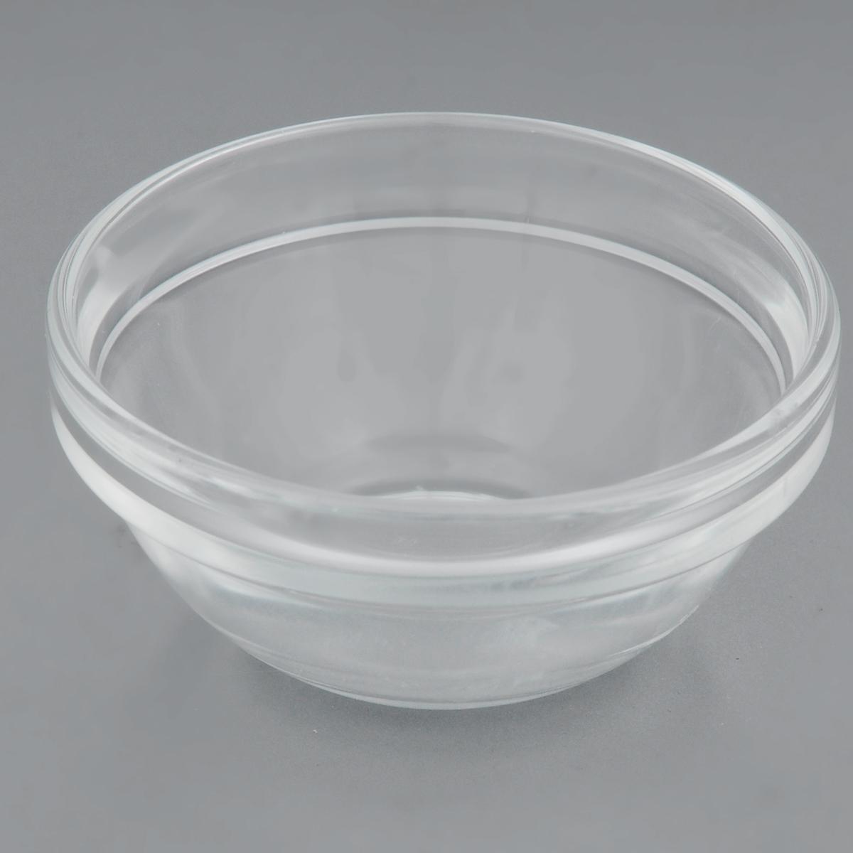 """Салатник Luminarc """"Удобное хранение"""" изготовлен из натрий-кальций-силикатного стекла и предназначен для красивой сервировки стола. Салатник сочетает в себе оригинальный дизайн и функциональность.   Диаметр (по верхнему краю): 7 см. Диаметр дна: 4 см."""