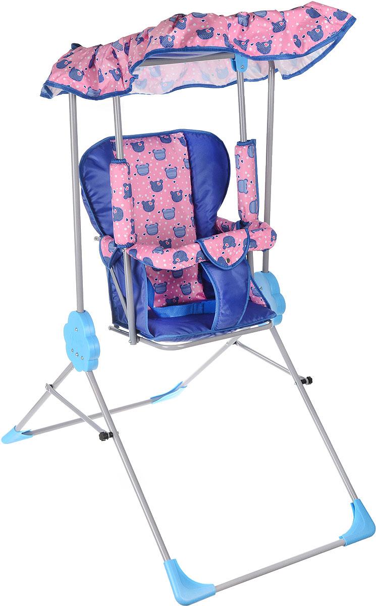 Фея Качели детские Малыш с тентом цвет синий розовый, Воткинская промышленная компания