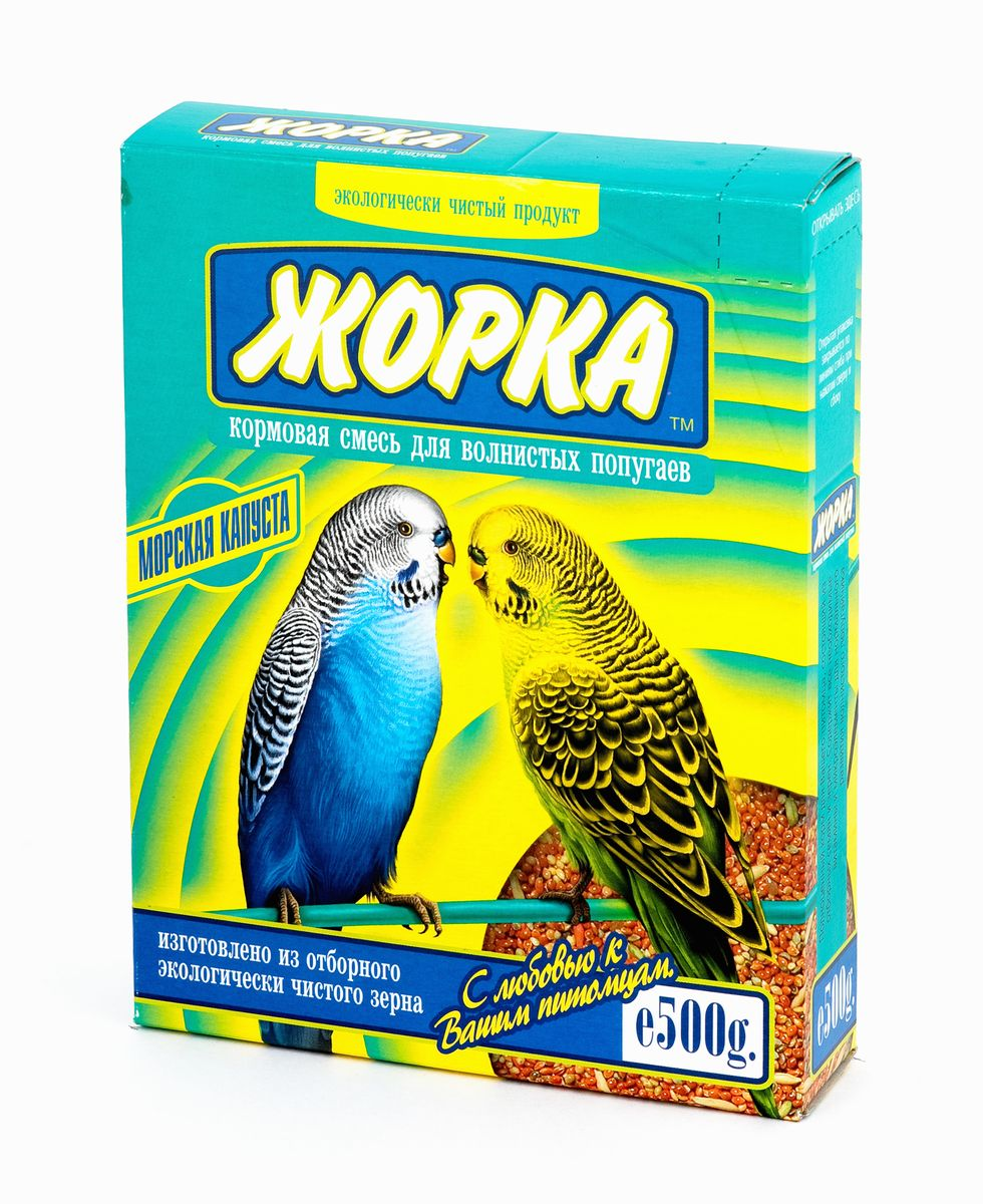 Корм для волнистых попугаев Жорка Морская капуста, 500 г корм для птиц vitakraft menu vital для волнистых попугаев основной 1кг