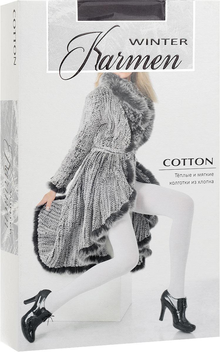 Колготки женские Karmen Winter Cotton, цвет: Grigio (серый). Размер S (44) larsen karmen