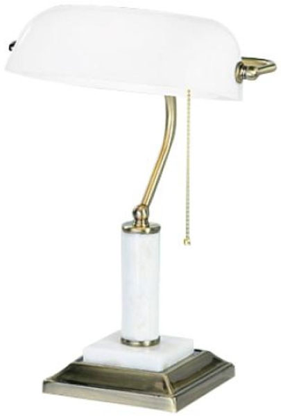 Лампа настольная Vitaluce, цвет: белый, золотистый, 1 х E27, 60 Вт