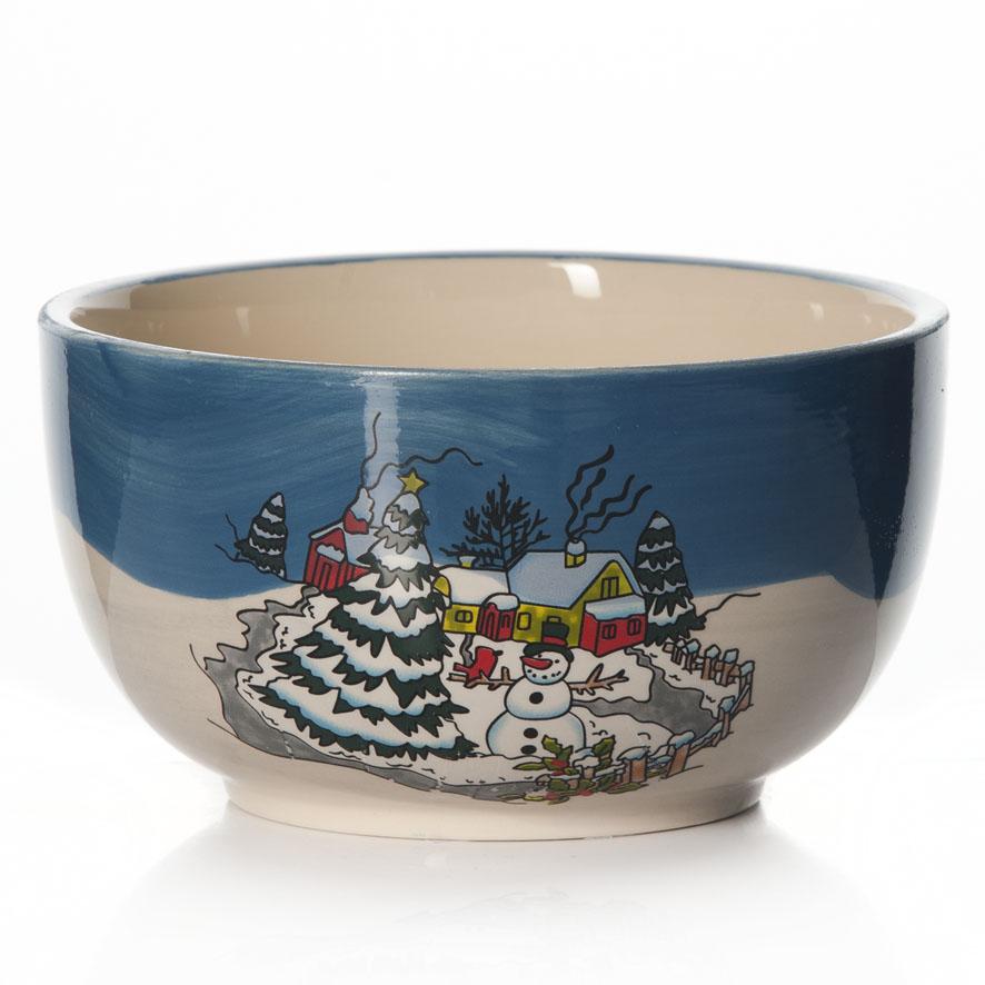 Салатник House & Holder Новогодний, 550 млDP-B10-329Салатник House & Holder Новогодний изготовлен из высококачественной глазурованной керамики. Внешние стенки изделия декорированы красочным новогодним рисунком. Изделие прекрасно подходит для сервировки салатов, закусок, соусов, также может использоваться в качестве супницы или емкости для каш и хлопьев. Такой салатник станет полезным и практичным приобретением для вашей кухни. Диаметр (по верхнему краю): 13,7 см. Высота стенки: 7,5 см.