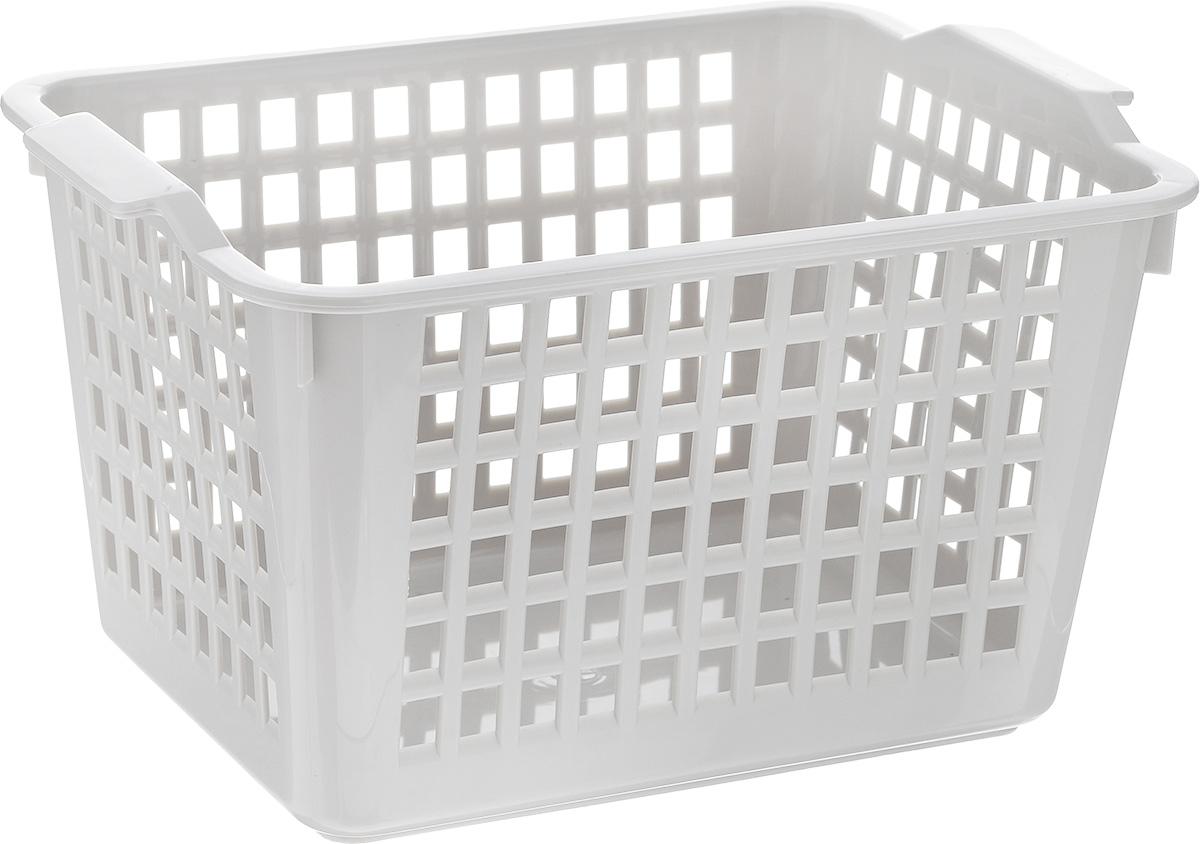 Корзинка универсальная Econova, цвет: светло-серый, 21 см х 14,6 см х 11,3 см. С12243С12243Универсальная корзинка Econova изготовлена из высококачественного пластика с перфорированными стенками и сплошным дном. Такая корзинка непременно пригодится в быту, в ней можно хранить кухонные принадлежности, аксессуары для ванной и другие бытовые предметы, диски и канцелярию.Корзинка Econova позволит вам хранить вещи компактно и с удобством.