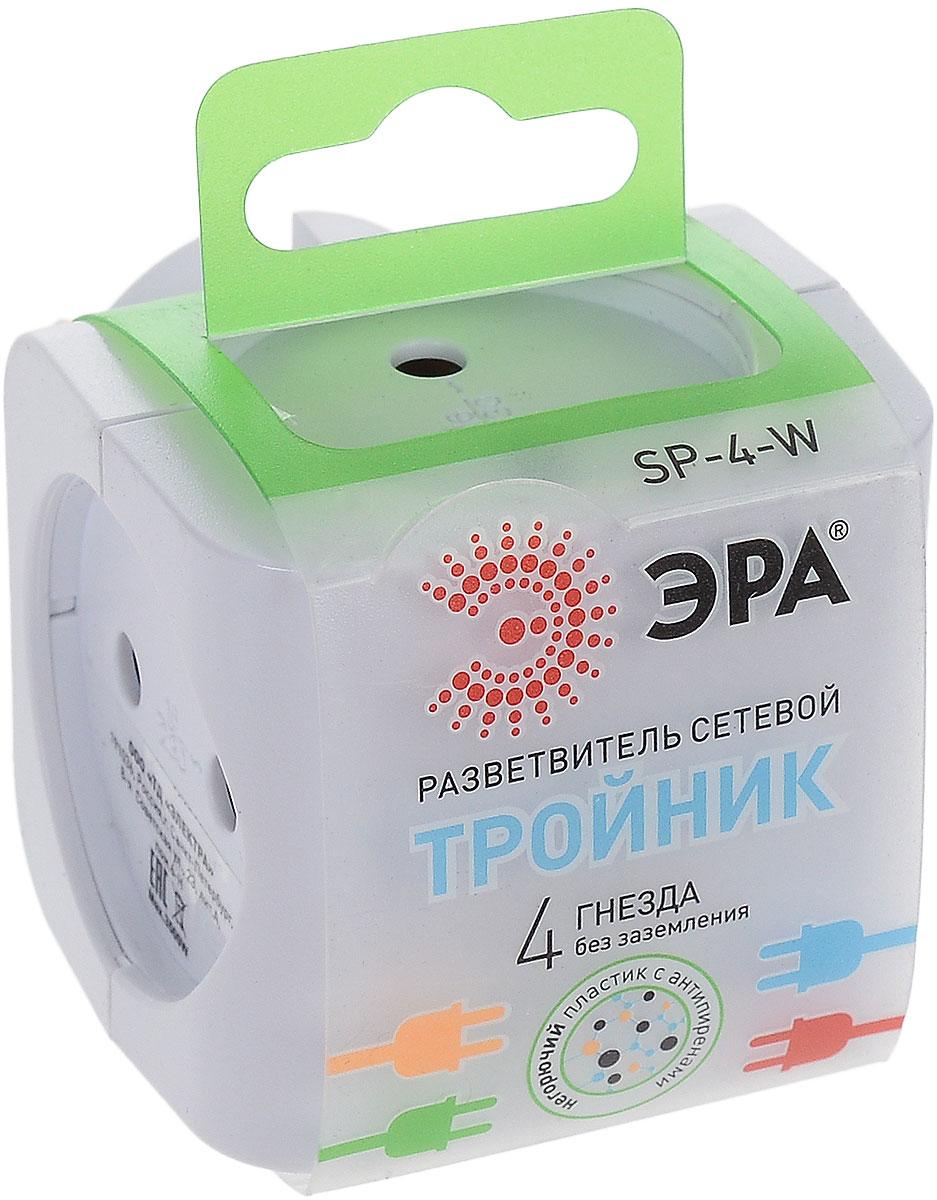 Тройник ЭРА SP-4-W, цвет: белый, 4 гнездаSP-4-WСетевой разветвитель (тройник) ЭРА предназначен для бытового применения в помещениях и обеспечивает возможность присоединения электрических приемников к однофазным сетям с номинальным напряжением 220В. Позволяет подключить несколько потребителей к одной электрической розетке. Материал корпуса - негорючий пластик с антипиренами, устойчив к механическим повреждениям, соответствует требованиям пожаробезопасности. Наличие заземляющего контакта: нет. Напряжение номинальное: 220В. Напряжение максимальное: 250В. Температура эксплуатации: от +5°С до +40°С. Относительная влажность: не более 85%. Срок службы: 5 лет. Материал корпуса: поликарбонат. Материал токоведущих частей: латунь CuZn15.