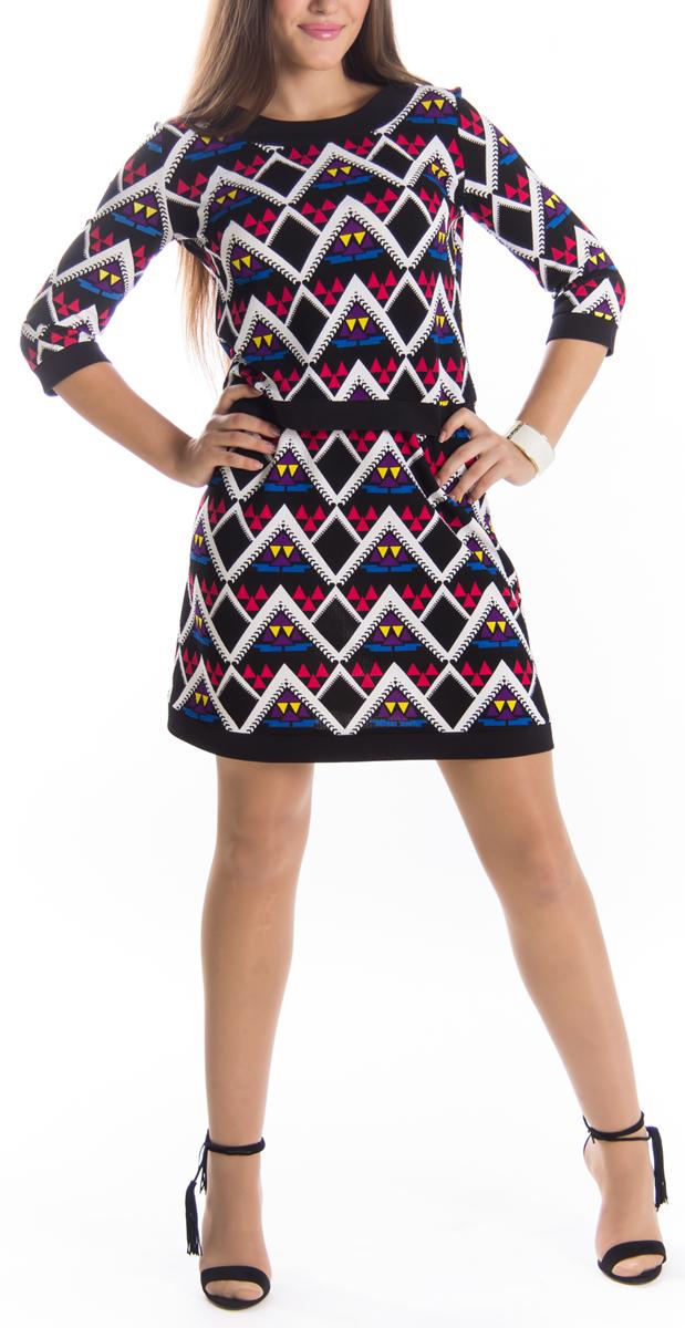 Юбка Lautus, цвет: черный, белый, розовый. ю0168. Размер 48ю0168Оригинальная юбка Lautus выполнена из высококачественного материала, она обеспечит вам комфорт и удобство при носке.Очаровательная юбка дополнена пришивным эластичным поясом.Стильная юбка-миди, оформленная красочным геометрическим принтом, выгодно освежит и разнообразит любой гардероб. Создайте женственный образ и подчеркните свою яркую индивидуальность! Классический фасон и оригинальное оформление этой юбки сделают ваш образ непревзойденным.
