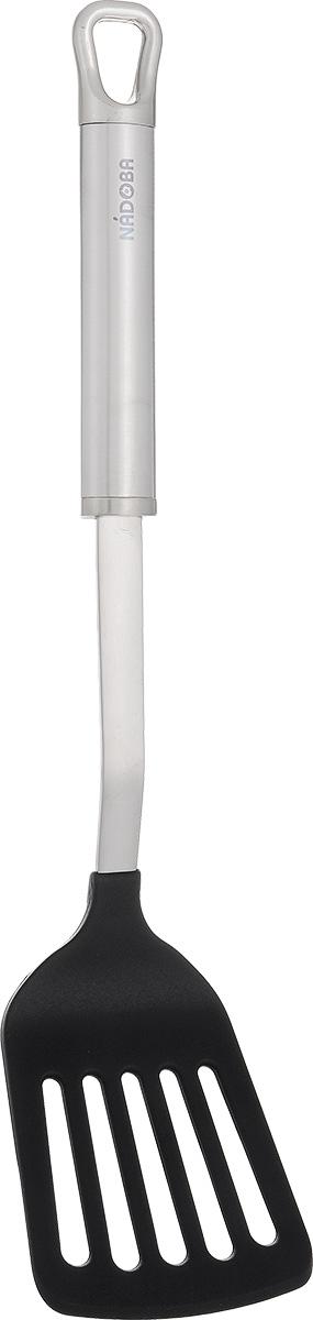 Лопатка кулинарная Nadoba Anezka, перфорированная, длина 35 см721112Перфорированная кулинарная лопатка Nadoba Anezka - это замечательный инструмент, который поможет при готовке на кухне. Рабочая поверхность прибора выполнена из высококачественного термостойкого нейлона, который выдерживает температуру до +210°С. Такой лопаткой можно перемешивать совершенно любые ингредиенты, сервировать, а также переворачивать при жарке куски мяса, котлеты, блины и многое другое. Изделие безопасно для посуды с антипригарным покрытием. Эргономичная рукоятка изстали обеспечивает надежный хват.Лопатка Nadoba Anezka станет отличным дополнением к коллекции ваших кухонных аксессуаров. Можно мыть в посудомоечной машине.Общая длина: 35 см.Размер рабочей поверхности: 8 см х 10,5 см.