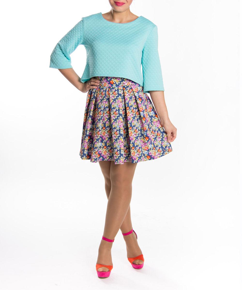 Юбка Lautus, цвет: синий. ю0155. Размер 48 блузки lautus блузка