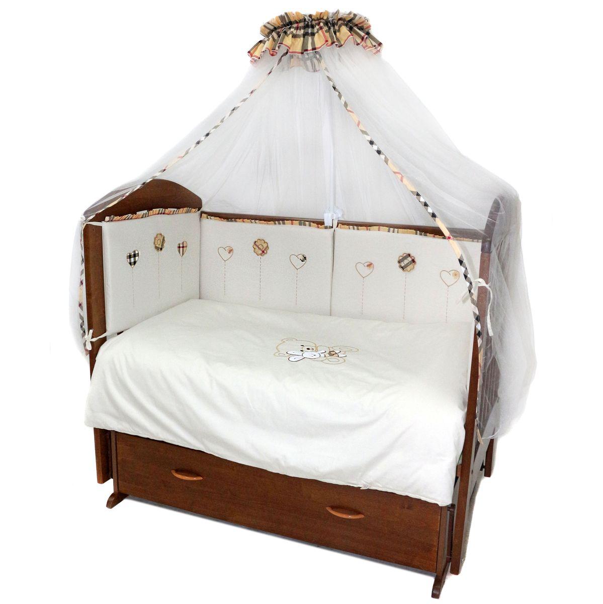 Топотушки Комплект детского постельного белья Эклер цвет белый 7 предметов комплекты детской одежды клякса комплект 5 предметов 53 5228